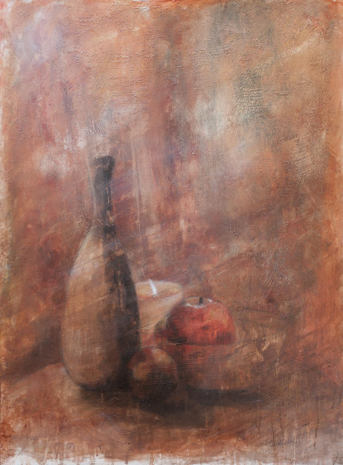 Lume di candela olio su gesso e sabbia 59x80cm 2015 dpi